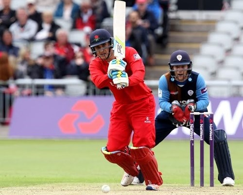 Liam Livingstone in action for Lancashire County Cricket Club in the NatWest T20 Blast