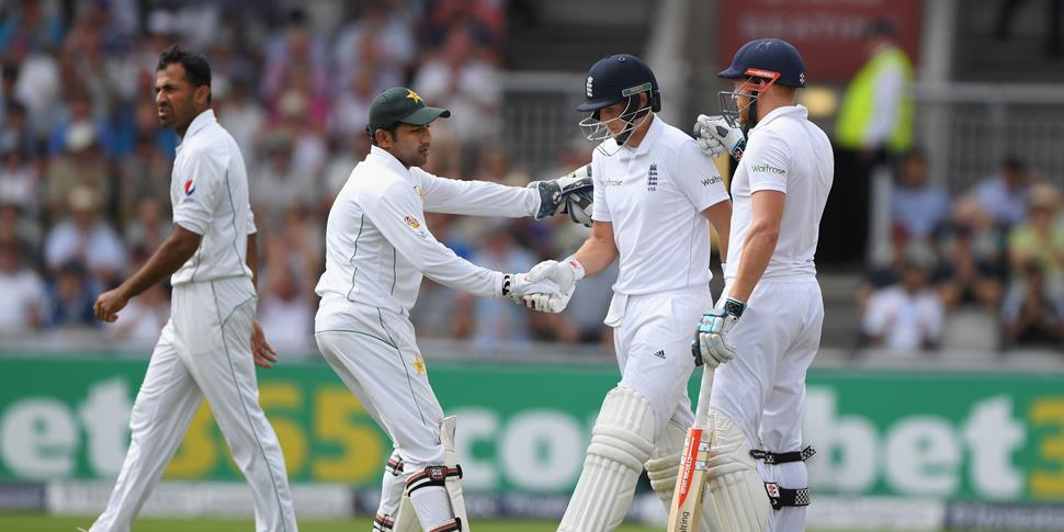 Joe Root scored 254 runs for England against Pakistan in the Second Investec Test at Old Trafford.jpg