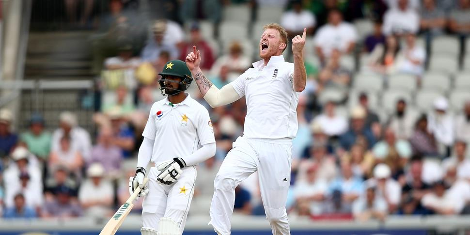 Ben Stokes celebrates a wicket for England against Pakistan.jpg