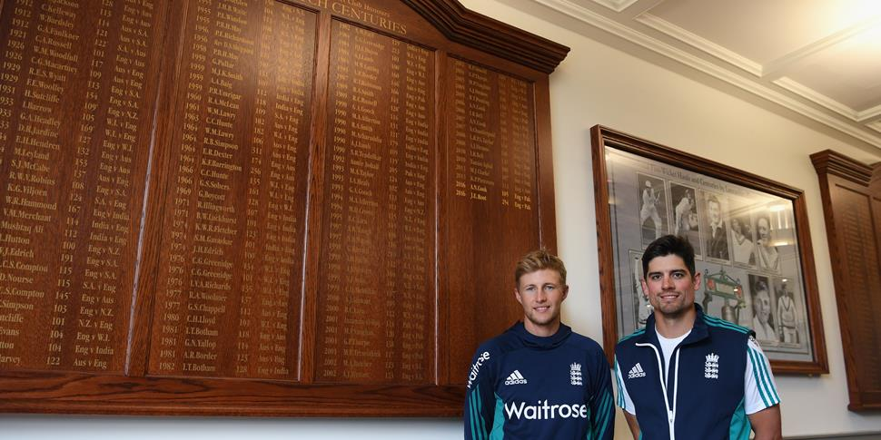 Alastair Cook and Joe Root remebered at Emirates Old Trafford for their performances for England against Pakistan in the Test Match.jpg