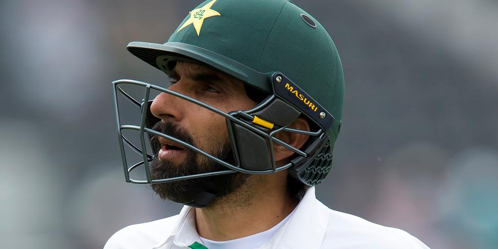 Misbah-ul-haq looks dejected for Pakistan as the lose to England in Manchester in the Test Match.jpg