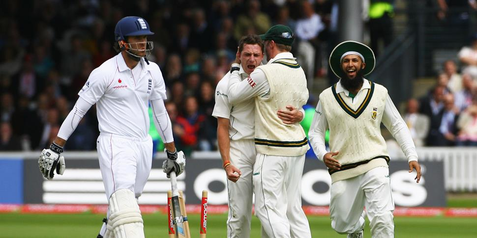 Dale Steyn celebrates for SOuth Africa at Lord's against England.jpg