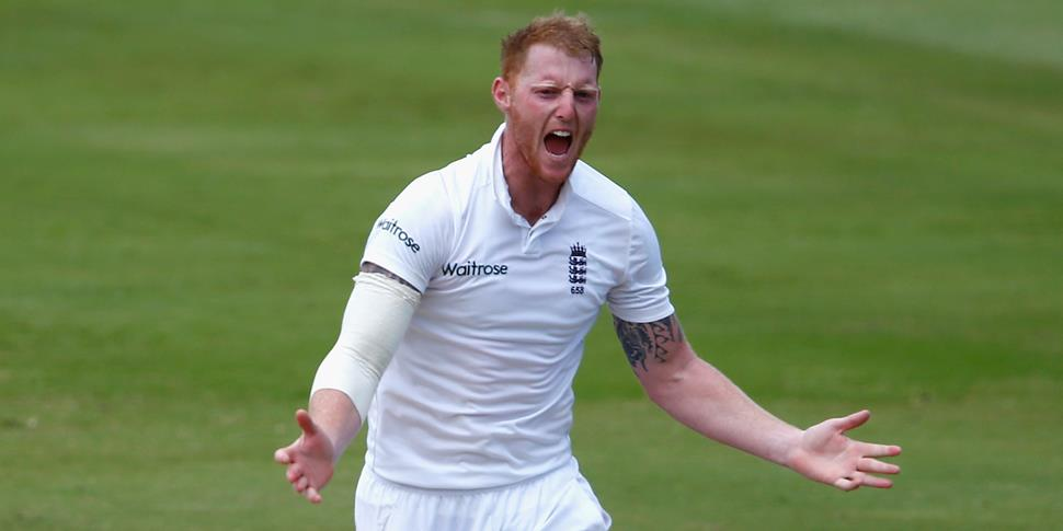 England's Ben Stokes takes a wicket against South Africa during their tour in 2016.jpg
