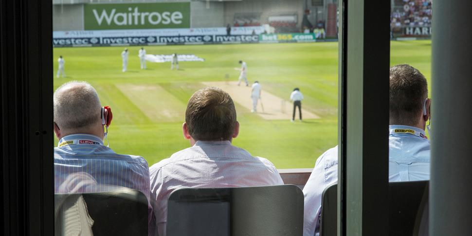 view from legends lounge hospitality at the England Test Match at Emirates Old Trafford.jpg