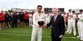 Haseeb Hameed with his cap for Lancashire County Cricket Club.JPG