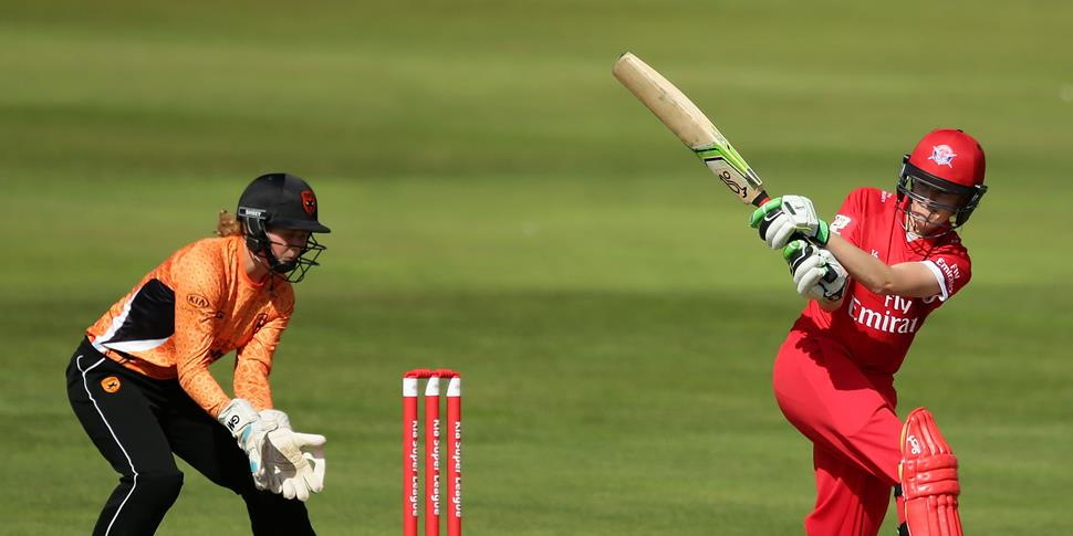 Lancashire Thunder player Amy Satterthwaite bats against South Vipers in the Kia Women's Super League.jpg
