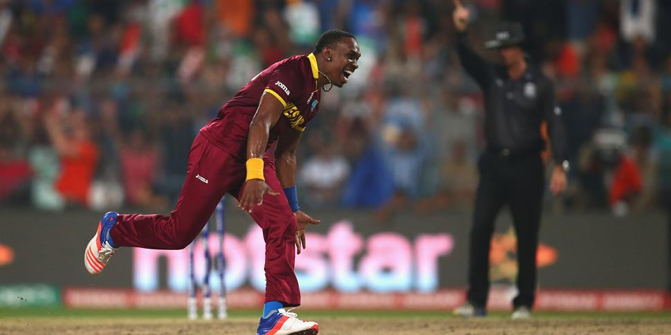 Dwayne DJ Bravo for the West Indies against the England Cricket Team.jpg