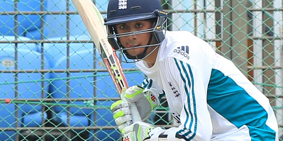LCCC and England player Haseeb Hameed training in Bangladesh.jpg