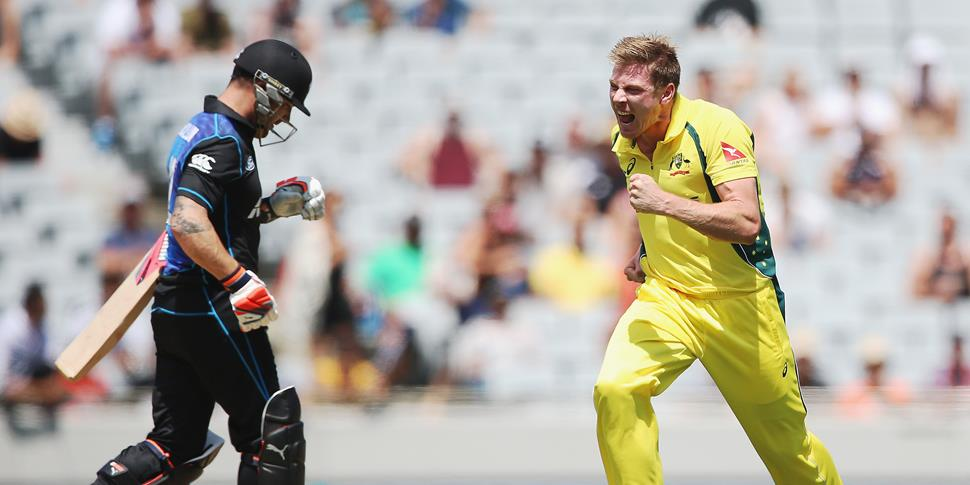 Faulkner takes a wicket for Australia against New Zealand in the ODI.jpg