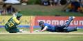 Dane VIlas v Eoin Morgan during the South Africa v England Test Match.jpg