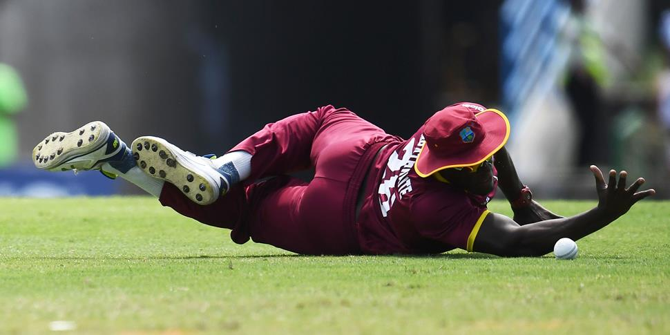 Carlos Brathwaite drops a catch against England in the second ODI.jpg