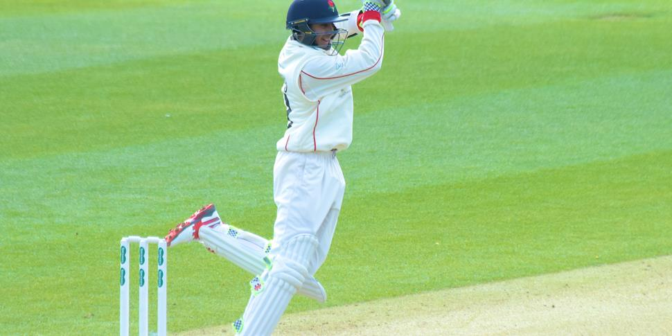 Haseeb Hameed in action on the opening day.jpg