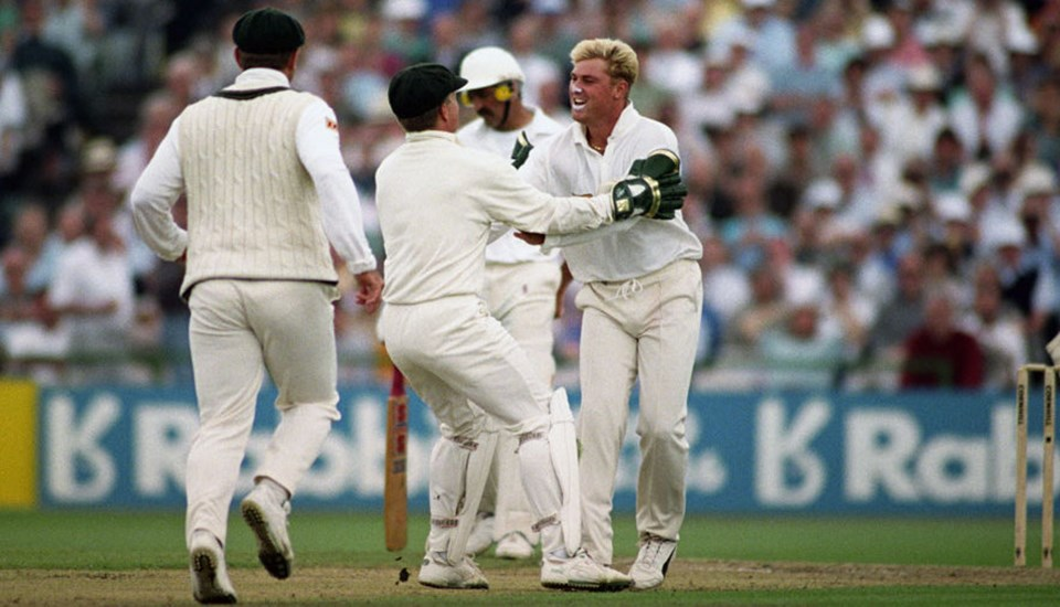 Shane Warne ball of the century in the Ashes at Emirates Old Trafford cricket ground.jpg