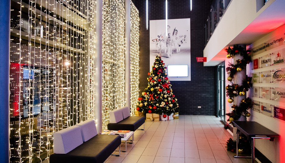 Emirates Old Trafford Works Finished Christmas Party 2018, Pavilion Reception.jpg